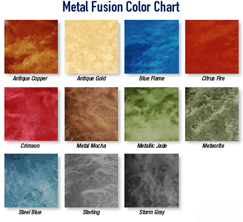Epoxy Colour Charts