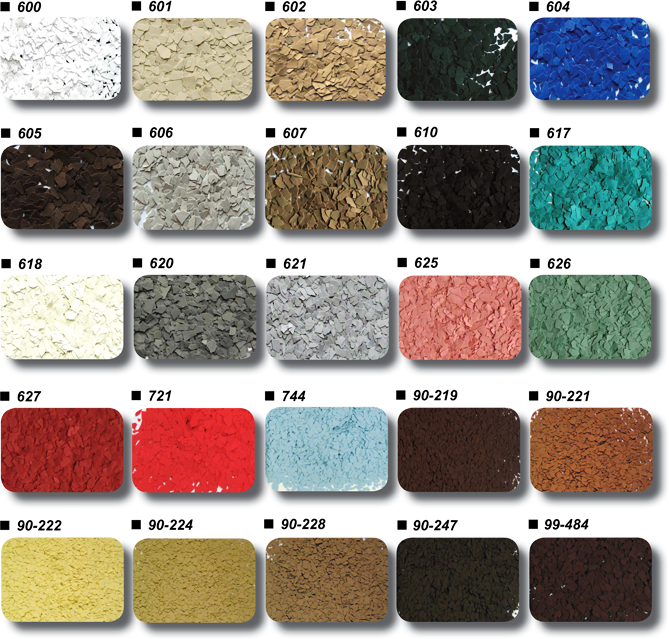 Industrial Flooring Brisbane: Epoxy Colour Charts